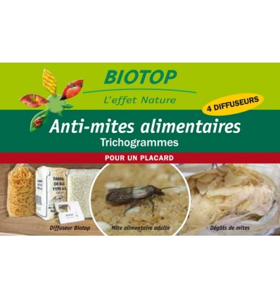 Anti-mites alimentaires, Trichogrammes, 4 diffuseurs