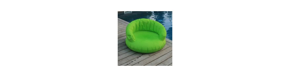 Coussin nomade gonflable esprit terrasse indoor et outdoor